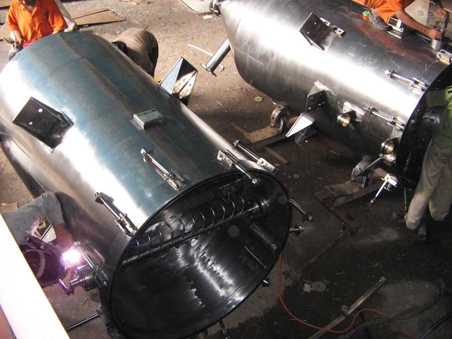 Vertical Pressure Leaf Filter,Oscillating Sluice Pipe Type,India